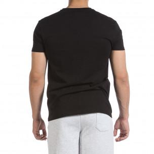 Ανδρική μαύρη κοντομάνικη μπλούζα Givova 2