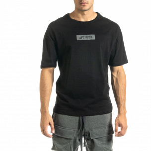 Ανδρική μαύρη κοντομάνικη μπλούζα Breezy Breezy