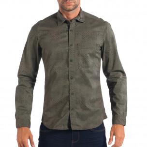Ανδρικό πράσινο Regular πουκάμισο RESERVED