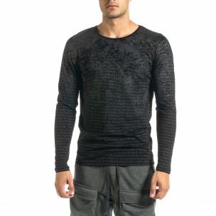 Ανδρική μαύρη μπλούζα Lagos