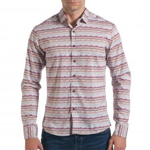 Ανδρικό γκρι πουκάμισο Mario Puzo