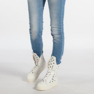 Γυναικεία λευκά μποτάκια Fersini  2