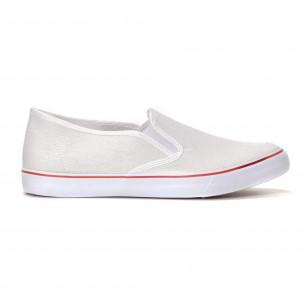 Ανδρικά λευκά sneakers slip-on