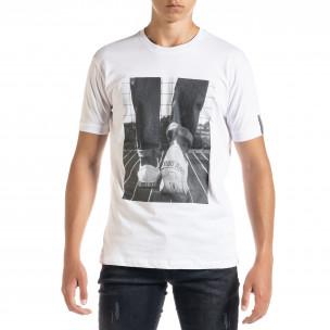 Ανδρική λευκή κοντομάνικη μπλούζα Freefly