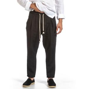 Ανδρικό μαύρο παντελόνι Duca Fashion Duca Fashion