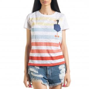 Γυναικεία ριγέ μπλούζα