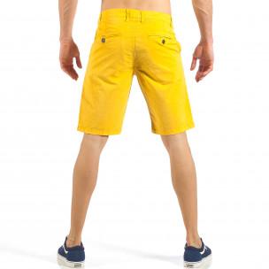 Ανδρική κίτρινη βερμούδα με ιταλικές τσέπες 2
