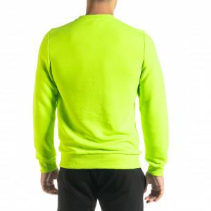 Ανδρική νέον πράσινη μπλούζα Basic 2