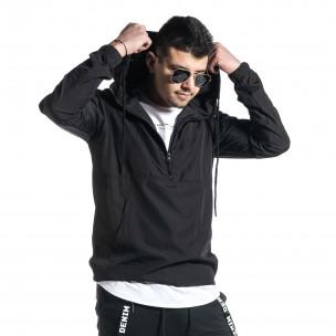 Ανδρικό μαύρο μπουφάν Windbreaker