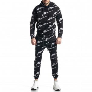 Ανδρικό μαύρο αθλητική φόρμα Duca Homme