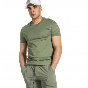 Ανδρική πράσινη κοντομάνικη μπλούζα Breezy