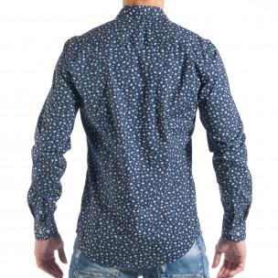 Ανδρικό μπλε πουκάμισο με μικροσκοπικό πριντ Toys  2