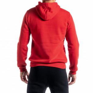 Ανδρικό κόκκινο φούτερ με τσέπη καγκουρό 2