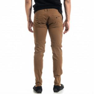 Ανδρικό camel παντελόνι Slim fit Chino 2