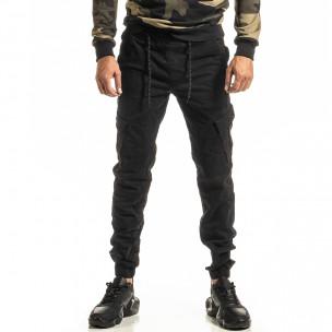 Ανδρικό μαύρο παντελόνι Cargo Jogger