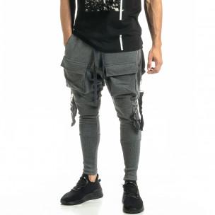 Ανδρικό γκρι παντελόνι Hip Hop Jogger 2