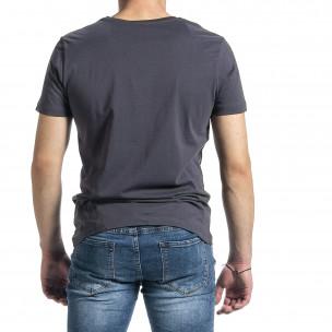 Ανδρική γκρι κοντομάνικη μπλούζα Breezy 2
