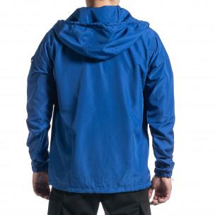 Ανδρικό γαλάζιο μπουφάν Windbreaker 2