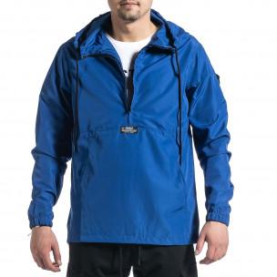 Ανδρικό γαλάζιο μπουφάν Windbreaker