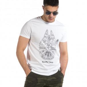 Ανδρική λευκή κοντομάνικη μπλούζα Hey Boy