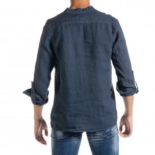 Ανδρικό γαλάζιο πουκάμισο Duca Homme  2
