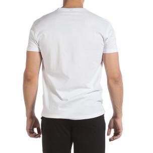 Ανδρική λευκή κοντομάνικη μπλούζα Givova 2
