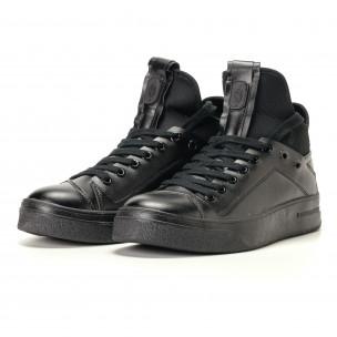 Ανδρικά μαύρα sneakers Montefiori 2