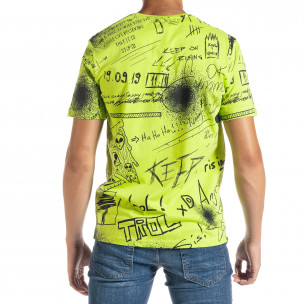Ανδρική πράσινη κοντομάνικη μπλούζα Breezy  2