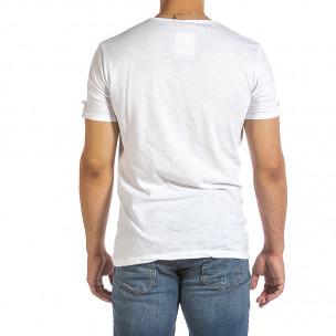 Ανδρική λευκή κοντομάνικη μπλούζα Made in Italy 2