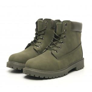 Ανδρικά  military πράσινα μποτάκια κλασικό μοντέλο 2