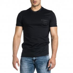 Ανδρική μαύρη κοντομάνικη μπλούζα Breezy Breezy 2
