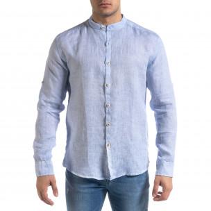Ανδρικό γαλάζιο πουκάμισο RNT23  2