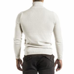 Ανδρικό λευκό πουλόβερ Lagos 2