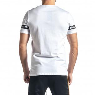 Ανδρική λευκή κοντομάνικη μπλούζα Lagos 2