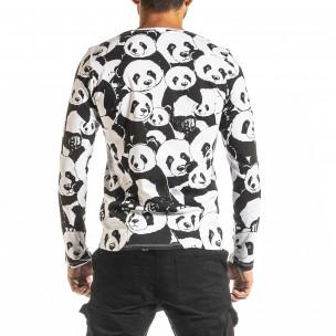 Ανδρική μαύρη μπλούζα Panda 2