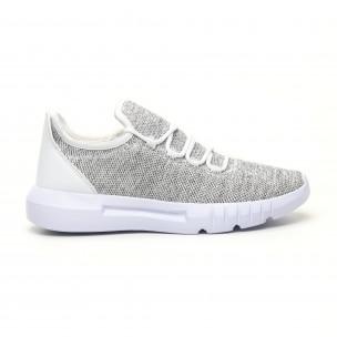 Ανδρικά λευκά μελάνζ αθλητικά παπούτσια ελαφρύ μοντέλο