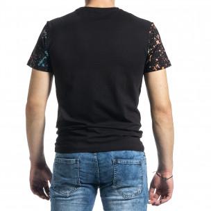 Ανδρική μαύρη κοντομάνικη μπλούζα Jamez 2