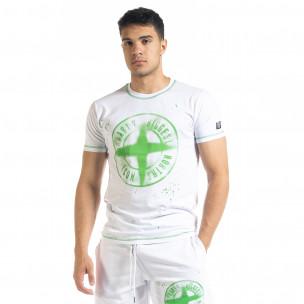 Ανδρική λευκή κοντομάνικη μπλούζα North's