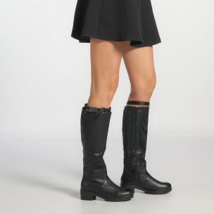 Γυναικείες μαύρες μπότες Martin Pescatore 2