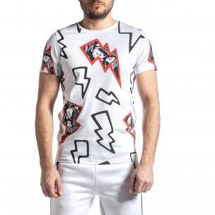Ανδρική λευκή κοντομάνικη μπλούζα Lagos Lagos