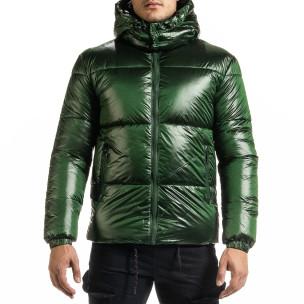 Ανδρικό πράσινο χειμωνιάτικο μπουφάν Duca Homme