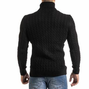 Ανδρικό μαύρο πουλόβερ Lagos 2