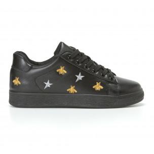 Γυναικεία μαύρα sneakers Dilen