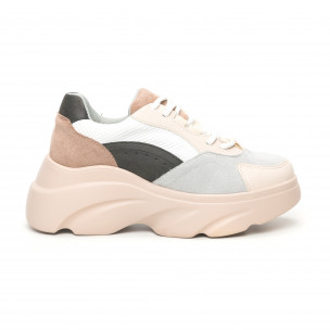 Γυναικεία αθλητικά παπούτσια σε παστέλ χρώματα Seastar