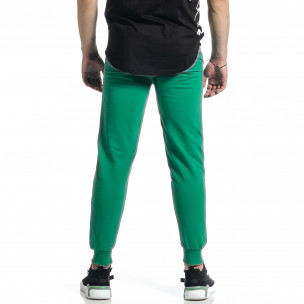 Ανδρική πράσινη φόρμα βαμβάκι Basic  2
