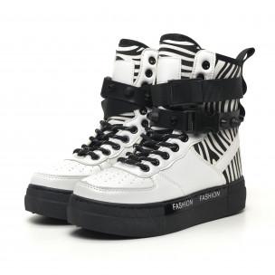 Γυναικεία λευκά αθλητικά μποτάκια τύπου sneakers 2