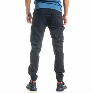 Ανδρικό μπλε παντελόνι cargo Jogger  2