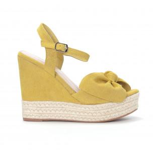 Γυναικείες κίτρινες πλατφόρμες