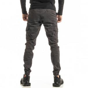 Ανδρικό γκρι παντελόνι cargo Jogger Blackzi 2