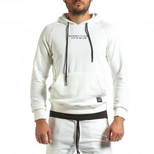 Ανδρικό λευκό φούτερ Clang 2